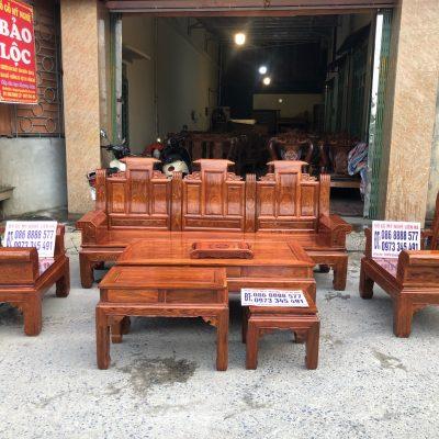 Bộ Âu Á Hộp Cuốn Thư 6 Món Cột 10 Vách Trơn Gỗ Hương Vân
