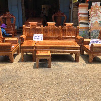 Bộ âu á hộp cuốn thư 6 món cột 10 vách trơn VIP gỗ hương vân