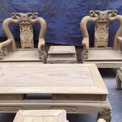 Ghế đơn bộ minh quốc đào chim 10 món cột 12 gỗ cẩm vàng