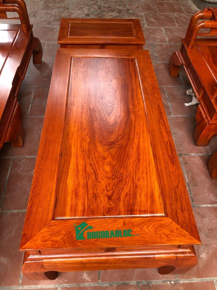 mặt bàn bộ ghế tần thủy hoàng 6 món cột 10 bàn đục gỗ hương đá VIP