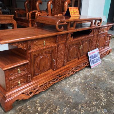 Kệ Tivi Kiểu Minh 2m6 gỗ Hương Đá
