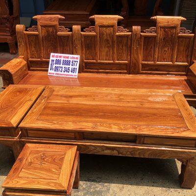 Đoản dài bộ âu á hộp cuốn thư 6 món cột 10 vách trơn VIP gỗ hương vân
