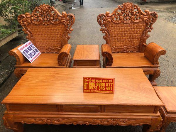 Ghế đơn bộ bàn ghế louis hoàng gia gỗ gõ đỏ