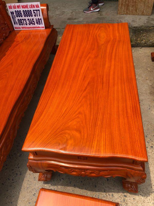 Mặt bàn bộ Bàn Ghế Louis Hoàng Gia Gỗ Hương Đá