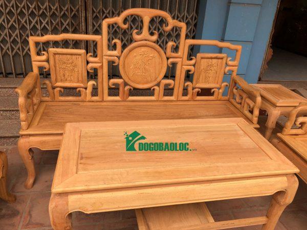 Đoản dài bộ Bàn Ghế Móc Tàu 6 món gỗ Gụ