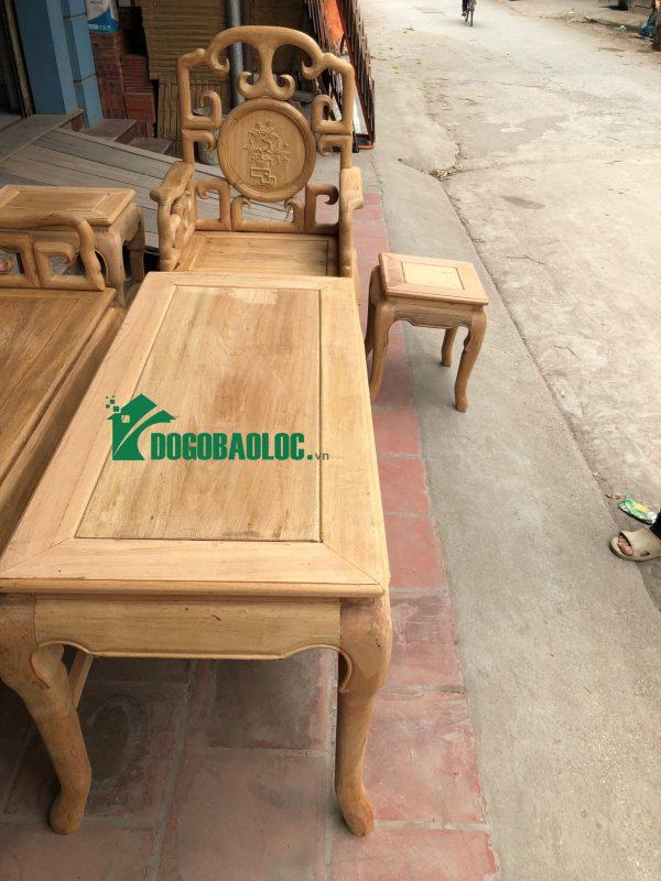 Mặt bàn bộ Bàn Ghế Móc Tàu 6 món gỗ Gụ