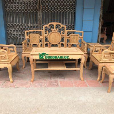 Bộ Bàn Ghế Móc Tàu 6 món gỗ Gụ