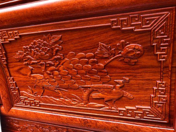 Bộ Phù Dung 6 món chân 12 Gỗ Hương Đá