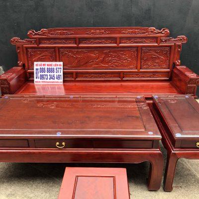 Đoản dài bộ bàn ghế phù dung chân 10 6 món gỗ hương đá
