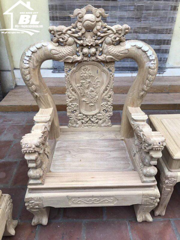 ghế đơn bộ ghế rồng mai kim tiền 10 món gỗ cẩm vàng
