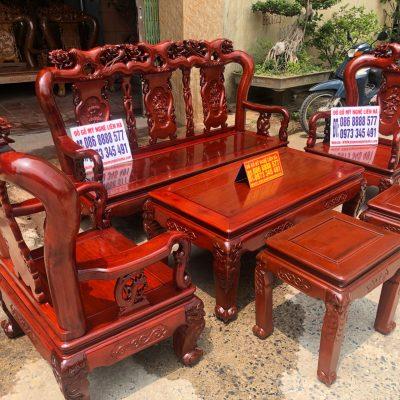 Bộ bàn ghế minh quốc Hồng Trĩ 6 món cột 10 gỗ hương lào