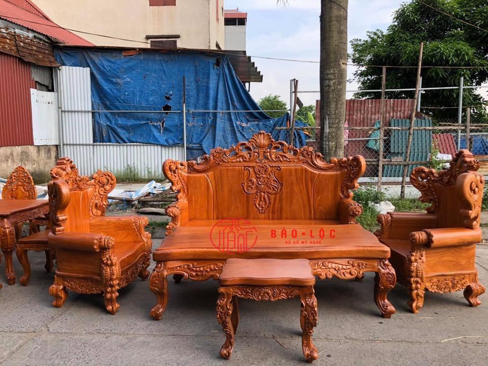 Bộ Ghế Luois Hoàng Gia Nguyên Khối Đại 6 Món